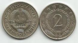 Yugoslavia 2 Dinara 1981. KM#57 UNC/AUNC - Yugoslavia