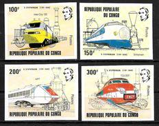 CONGO  N° 656/59  * *  NON DENTELE   Trains - Trains