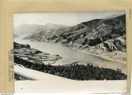 SERRE PONCON  Naissance Du Lac De Serre-pouçon  A DROITE LE VILLAGE MORT D'UBAYE   En 1960 - Lieux