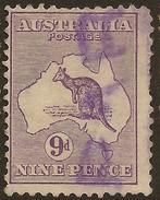 AUSTRALIA 1913 9d Roo SG 10 U #ZF42 - Usados