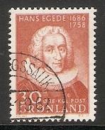 004102 Greenland 1958 Hans Egede 30o FU - Groenlandia
