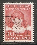 004103 Greenland 1960 Rasmussen 30o FU - Used Stamps
