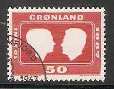 004104 Greenland 1967 Royal Wedding 50o FU - Greenland