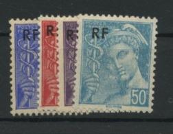 FRANCE - TYPE MERCURE - N° Yvert 657/660** - 1938-42 Mercure