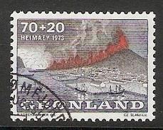 004107 Greenland 1973 Heimaey 70o + 20o FU - Used Stamps
