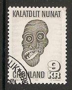 004108 Greenland 1977 Eskimo Mask 9K FU - Used Stamps