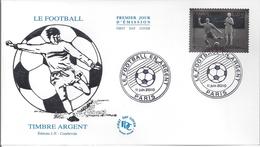 Enveloppe 1er Jour Le FOOTBALL Timbre En Argent 2010 - 2010-....