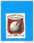 FRANCE-ERINNOPHILIE- Vignette-Exposition Textile LILLE- Avril Mai-1951-neuve-NSG - Commemorative Labels