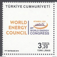 TURKEY, 2016, MNH, WORLD ENERGY COUNCIL, ENERGY CONGRESS, 1v - Sciences