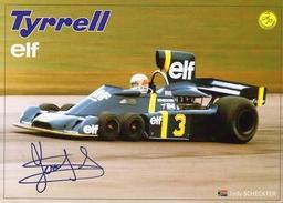 Tyrrell P34 F1  -  Jody Scheckter    -  CP (signée) - Grand Prix / F1