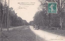 Cpa Liffré - MI-Forêt - La Route De St Sulpice La Forêt (édit. Mary Rousselière ) - Autres Communes