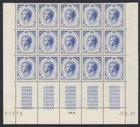 MONACO - 1964 - 15 Valori Nuovi MNH Uniti Fra Loro Con Angoli E Margini Di Foglio Yvert 549A, Rainier III, 95 Cent. - Mónaco