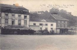 Tilff - Hôtel Du Casino - Place De L'Eglise (Ed. J. Bellens, 1921, Timbre 10 C Roi Casqué) - Esneux