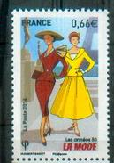 France 2014 - Années 50, La Mode Française / The 50´s, French Fashion - MNH - Textil