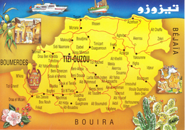 Carte De La Willaya De TIZI-OUZOU ( Editions BAKHTI) - Unclassified