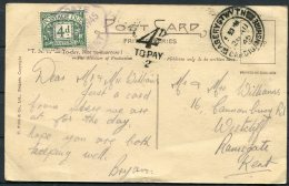 1945 GB Aberystwyth Postcard Wales, Postage Due, Taxe - Ramsgate, Kent - 1902-1951 (Kings)