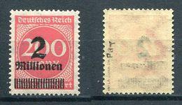 Deutsches Reich Michel-Nr. 309PaY Postfrisch - Geprüft - Deutschland