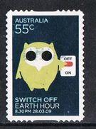 Australia SG3157 2009 Earth Hour 55c Good/fine Used [9/11323/6D]