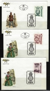 ÖSTERREICH - FDC Mi-Nr. 1344 - 1346 - 3 Belege - Alte Uhren (II) Stempel WIEN (15) - FDC