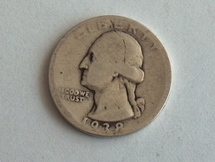 Etats-Unis, United States, USA - Quarter 1/4 Dollar 1938 - Silver, Argent - Federal Issues