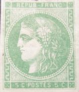 LOT GD/543 - CERES EMISSION DE BORDEAUX N°42B - NSG - Cote : 180,00 € - 1870 Emission De Bordeaux