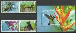 BRITISH  VIRGIN  ISLANDS   2014  WWF   HUMMING BIRDS  SET & MS   MNH