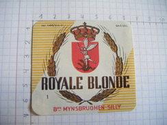 ETIQUETTE ROYALE BLONDE  BRASSERIE MYNSBRUGHEN SILLY - Beer