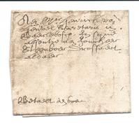 """Nederland 1659  Bodepost  Zéér Oude Briefomslag """"Betaelt Den Bode"""" - Niederlande"""