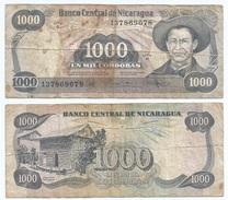 Nicaragua 1.000 Cordobas 1985 Pick 145 Ref 1143 - Nicaragua