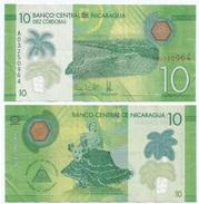 Nicaragua 10 Cordobas 2014 Polimero Pick 210.a Ref 310 - Nicaragua