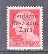 GERMAN  OCCUP. ZARA  S 4  **  SIGNED - German Occ.: Zara