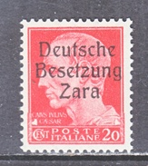 GERMAN  OCCUP. ZARA  S 4  **  SIGNED