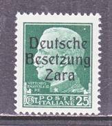 GERMAN  OCCUP. ZARA  S 5  **  SIGNED - German Occ.: Zara