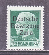 GERMAN  OCCUP. ZARA  S 5  **  SIGNED