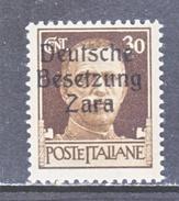 GERMAN  OCCUP. ZARA  S 6  **  SIGNED - German Occ.: Zara