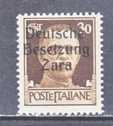 GERMAN  OCCUP. ZARA  S 6  **  SIGNED