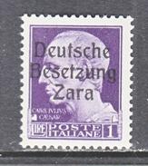 GERMAN  OCCUP. ZARA  S 9  **  SIGNED - German Occ.: Zara