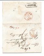 Nederland 1860 Complete Brief Met Bestelhuis Andelst En Na Posttijd - Netherlands