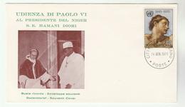 1971 VATICAN COVER Event VISIT Of HAMANI DIORI  President Of NIGER - Vatican