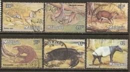 Malaysia 1978 Animaux Sauvages Avec Tortoise, Singe, Tigre Etc Obl Super BARGAIN BONNE AFFAIRE A REGARDER - Malasia (1964-...)