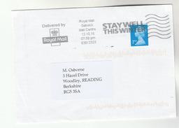 2016 Gatwick GB COVER SLOGAN Pmk STAY WELL THIS WINTER Health Medicine Stamps - Medicine
