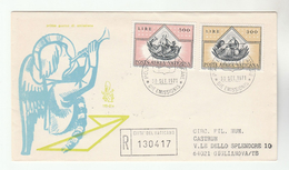 1971 REGISTERED VATICAN FDC Stamps RELIGION, LION Lions Cover - FDC