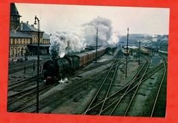 57 Moselle Sarreguemines Gare Chemin De Fer Locomotive Mikado 141 R 420 - Railway