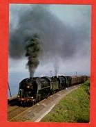Chemin De Fer Locomotive Double Traction 141 R Entre Narbonne Et Cerbere - Chemin De Fer