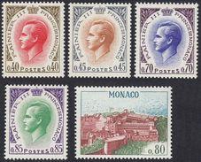 MONACO - 1969 - Lotto 5 Valori Nuovi MNH; Yvert 772, 773, 775, 776 E 777. - Mónaco