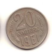 Lot Of Coins 1, 2, 3, 5, 10, 15 And 20 Kopeks 1961 Soviet Union, USSR. Socialism, CCCP, Russia, Red Star. - Kilowaar - Munten