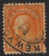 1912 US, 10c Stamp, Used, Benjamin Franklin, Sc 416 - United States