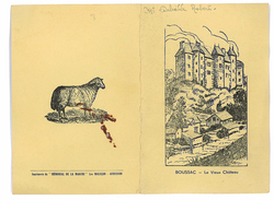 MENU FOIRE-CONCOURS BANQUET DU 19 NOVEMBRE VILLE DE BOUSSAC 1957 CREUSE 23 - Menükarten