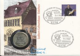 Germany 1993 - Cover: Numismatic - History, Martin Luther King