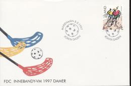 Aland 1997 - Cover: FDC - Hockey (Field)